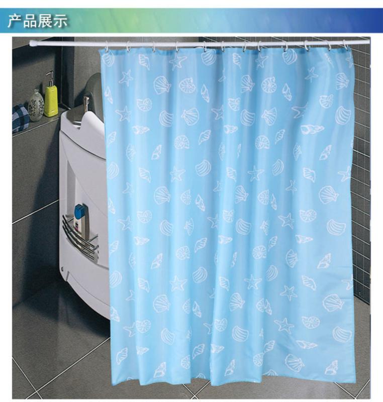 LOHAS - 防水防霉印花浴簾 180 x180cm (海洋世界) (藍色)