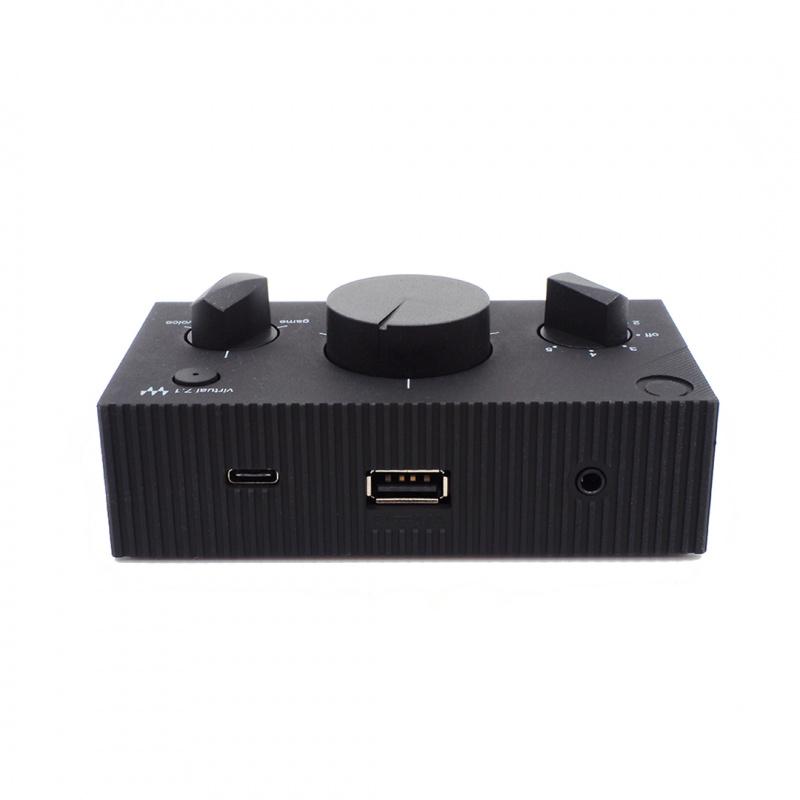 SHIDO:001 + SHIDO:002 電競遊戲監聽耳機及 USB DAC耳擴連音效控制器組合
