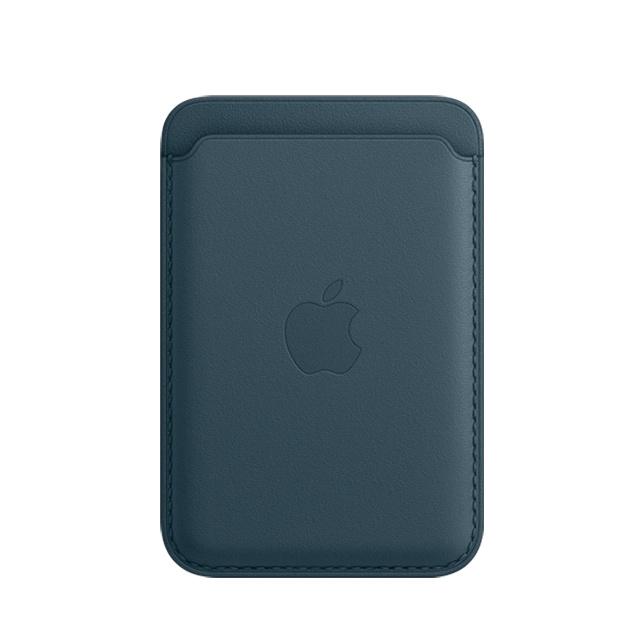 Apple iPhone MagSafe 皮革銀包 [波羅的海藍色]