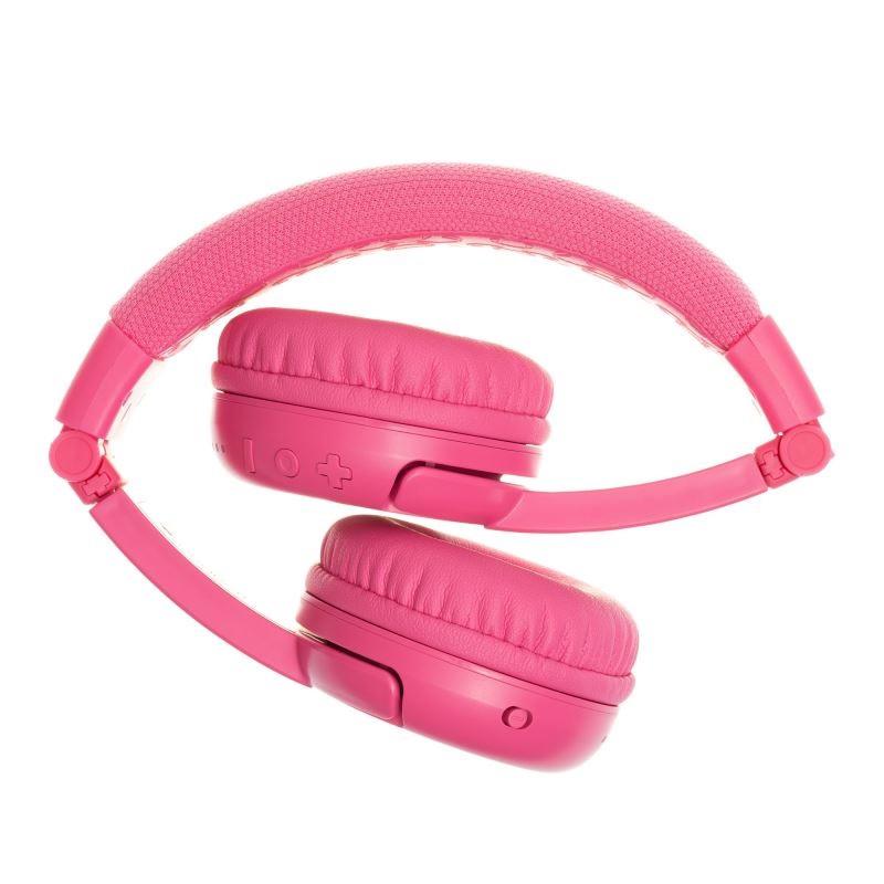 BUDDYPHONES PLAY+ WIRELESS SAFEAUDIO HEADPHONES -ROSE PINK