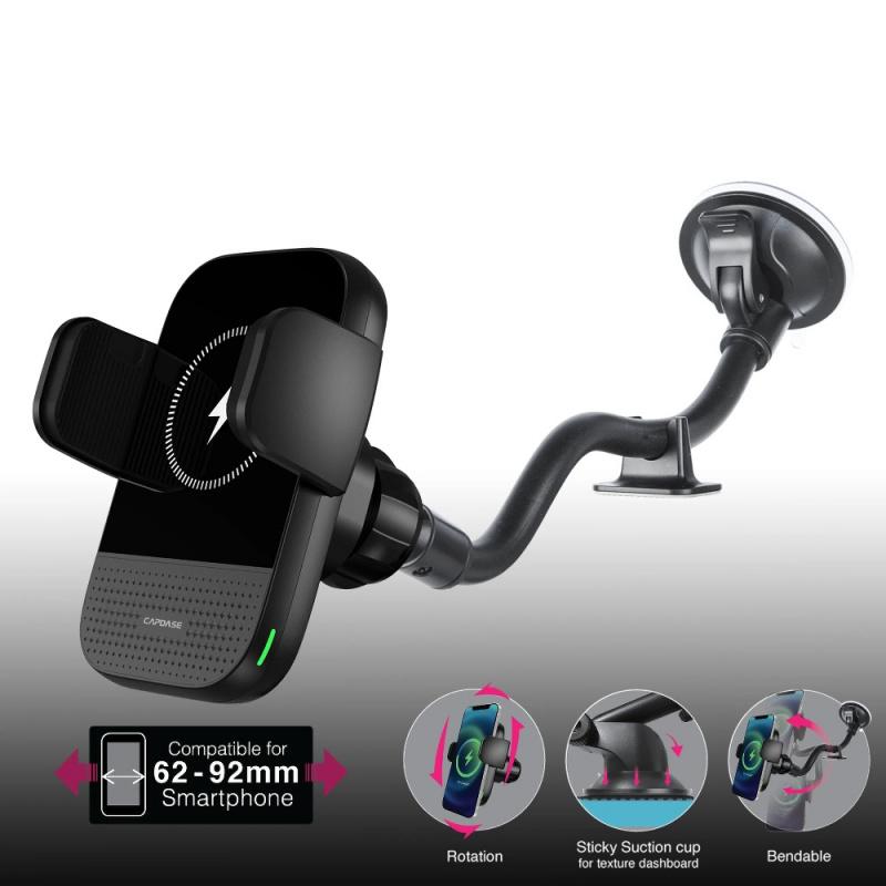 Capdase AI Power Fast Wireless Car Charging Auto Mount Gooseneck Arm 300mm HR00-AIG0G-300