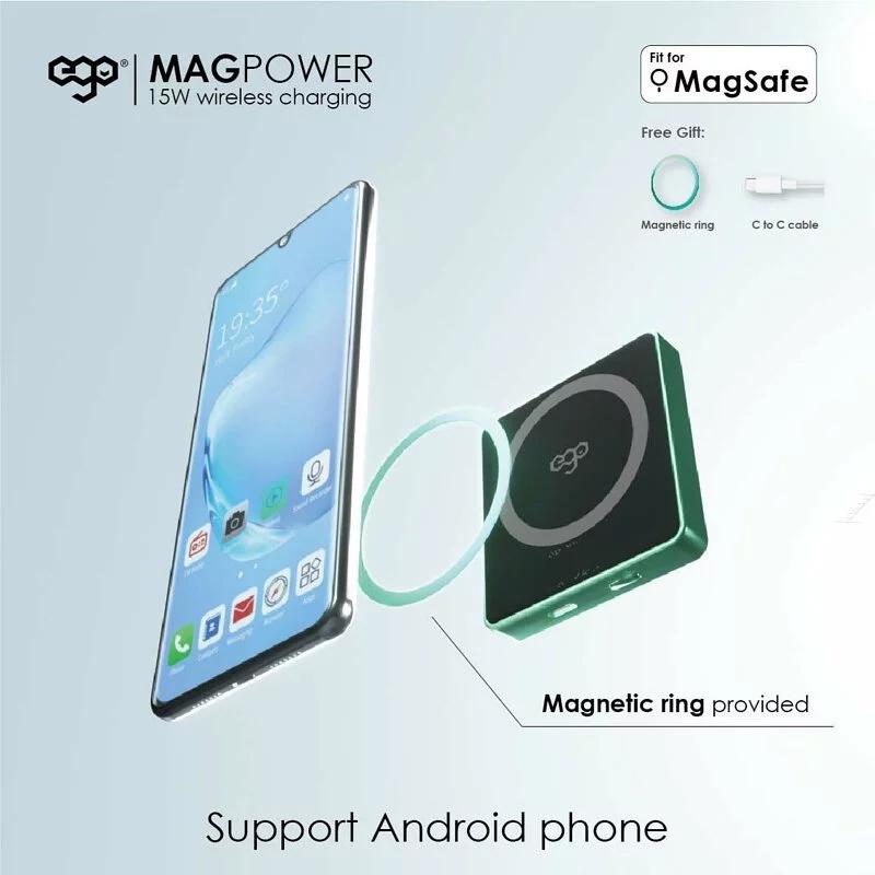 EGO MagPower 10000mAh MagSafe 15W 磁吸行動電源