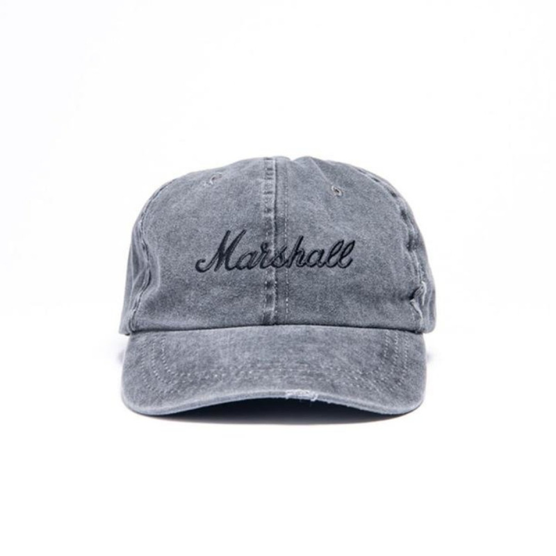 MARSHALL GREY DISTRESSED 棒球帽- GREY