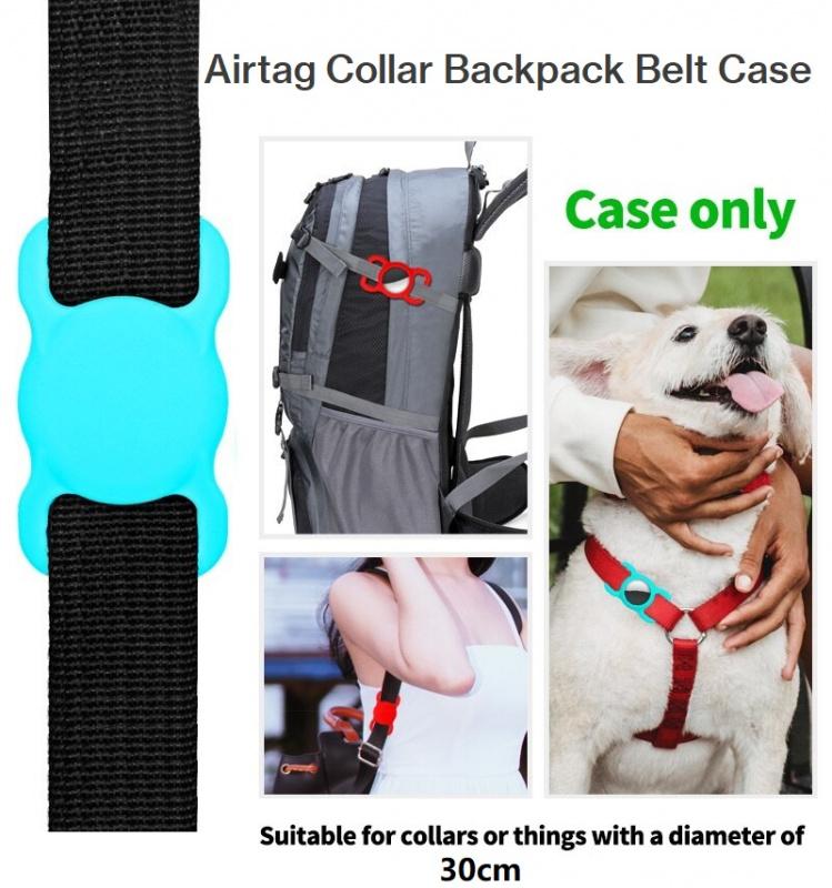 Apple Airtag 寵物項圈矽膠保護套GPS狗貓頸項|背囊手袋公事包腰帶3套