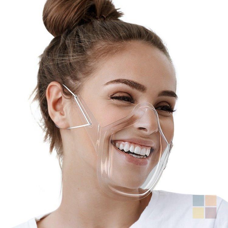 透明口罩 高清防飛沬 運動口罩 唇語 表演 舞台 電視主播用