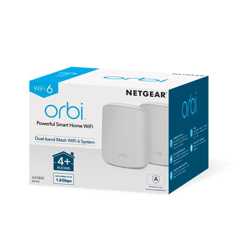 Netgear Orbi Mesh WiFi 6 專業級雙頻路由器 2 件套裝 (RBK352)