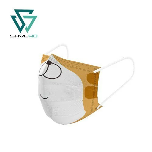SAVEWO X 白爛貓「無眼睇」三摺平面口罩 [1盒30片獨立包裝]