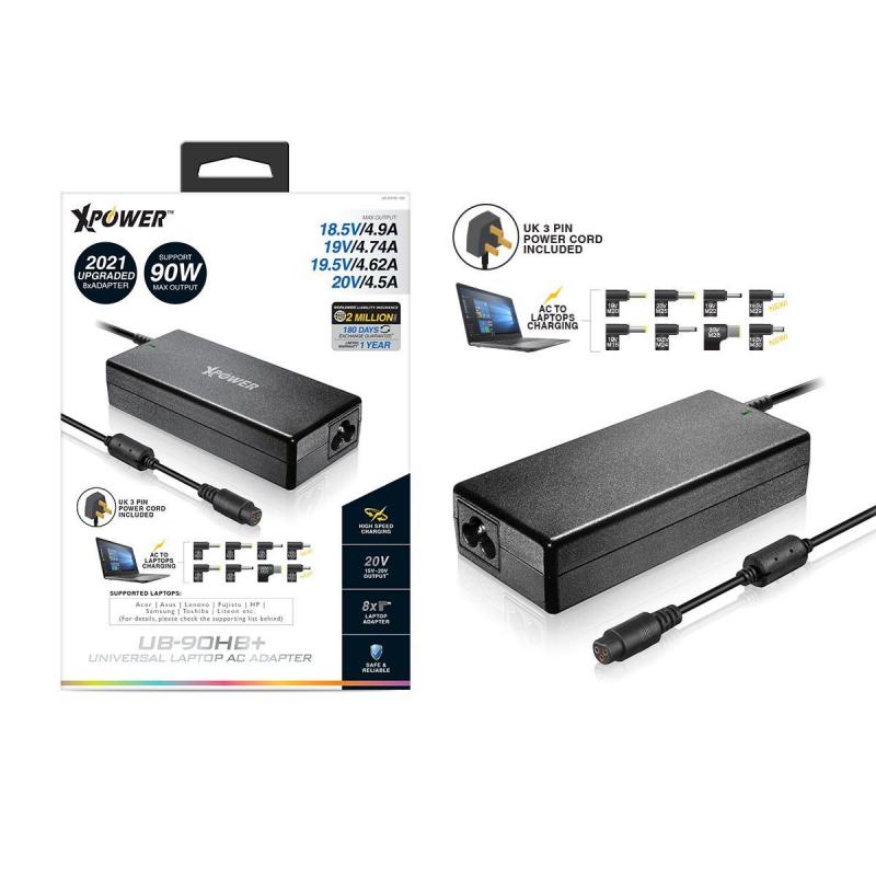 XPower Laptop AC 充電轉插 [UB-90HB+]