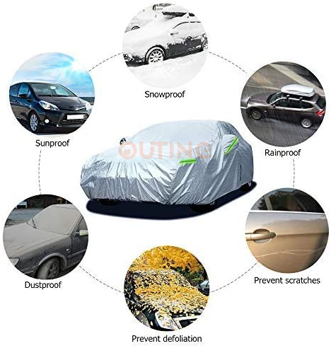 2021新款秒速安拆鋁膜汽車保護套Car Cover BMW1/3系 Benz C Class V40