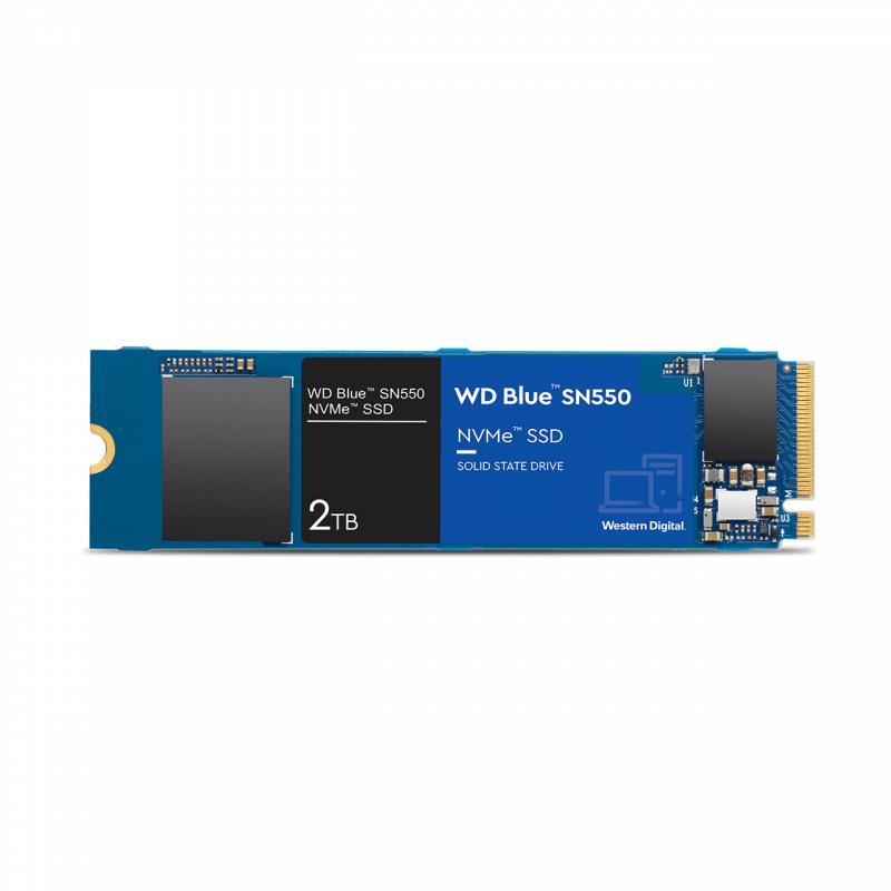 WD BLUE M.2 SN550 NVME PCI-E 2TB 2280 SSD 2600MB/S