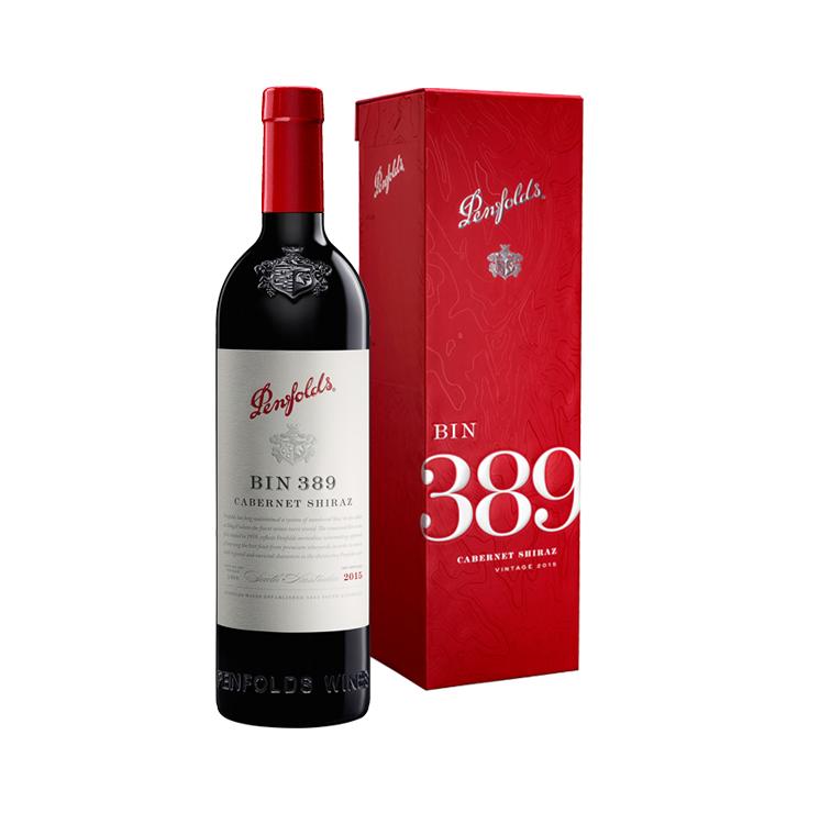 Penfolds Bin 389 Cabernet Shiraz 2015 Cork 750ml Gift Box Set - 12371023