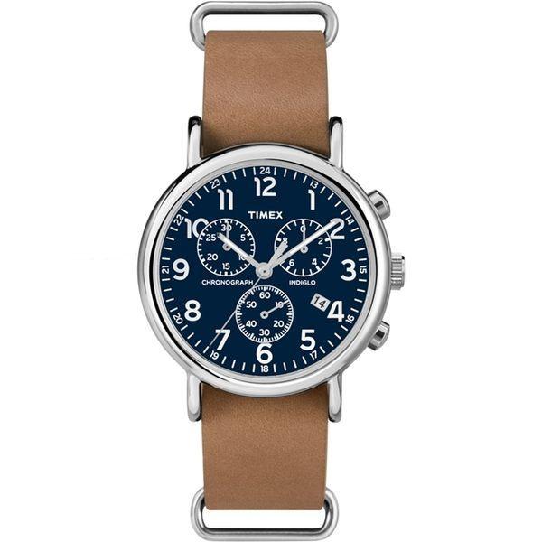 Timex TW2P6230 Weekender Chronograph 皮帶手錶