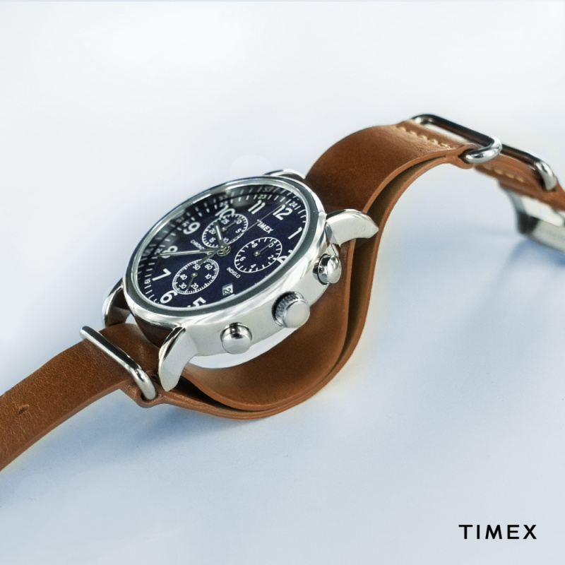 Timex TW2P6230 Weekender Chronograph 皮帶手錶