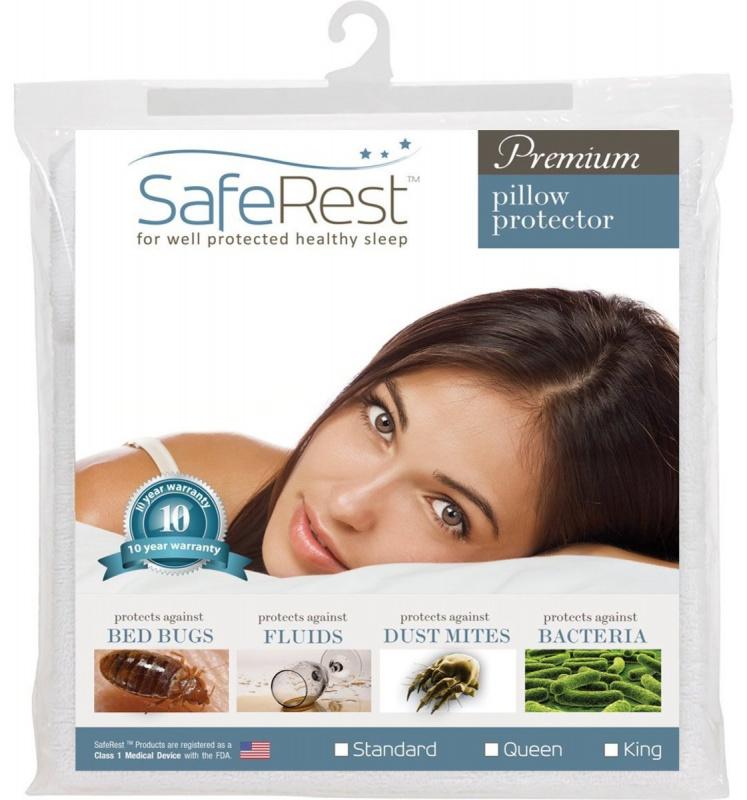 SafeRest Premium 防螨防水防污防過敏拉鍊式枕頭套