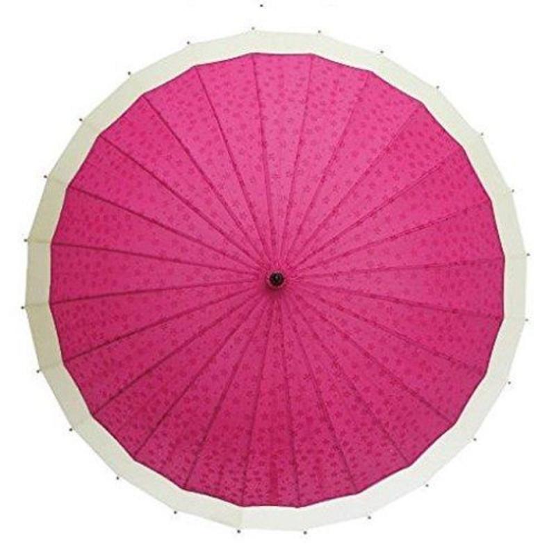 京美咲 ゆきわ 遇水浮現櫻花 蛇之目風長和傘