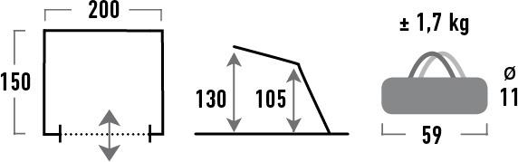 High Peak Evia UV50 帳篷