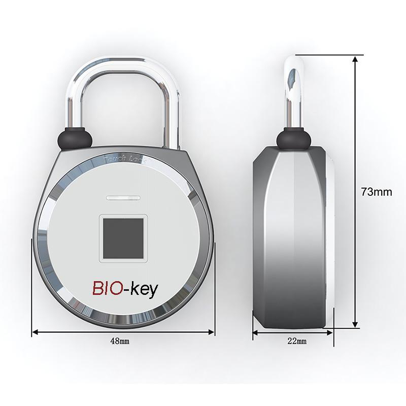 美國進口原裝正品BIO-KEY 旗艦指紋解鎖掛鎖款