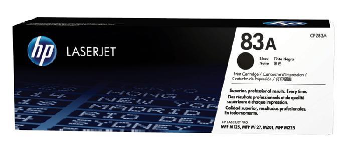 HP 83A 黑色原廠 LaserJet 碳粉盒 (CF283A)