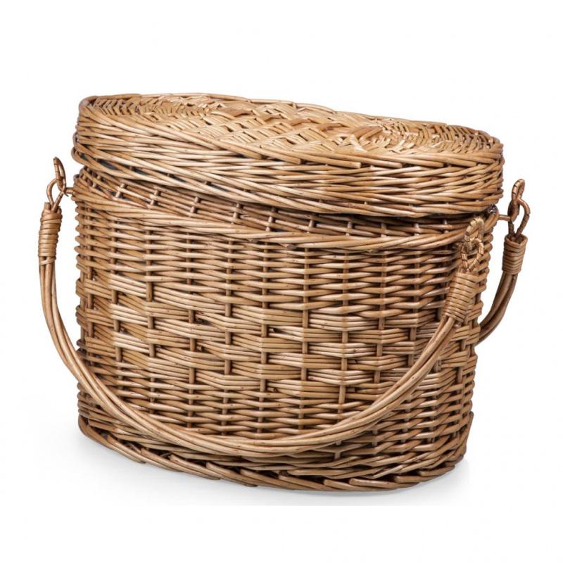 PICNIC TIME Romance Willow Picnic BasketAdeline Collection 藤製有蓋野餐籃套裝