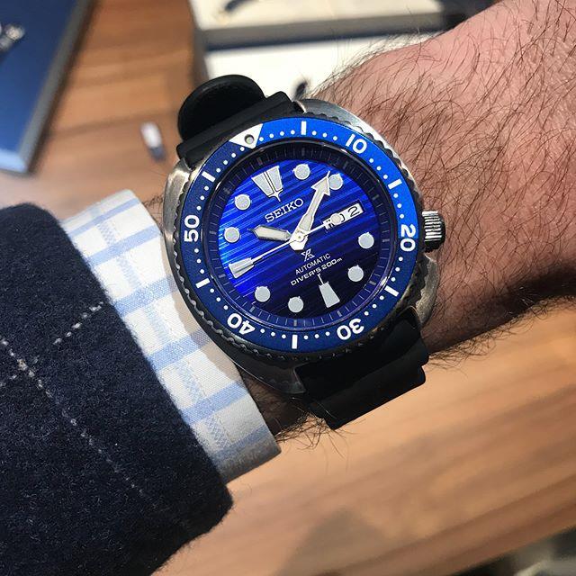 Seiko PROSPER 最新「Save the Ocean」愛海洋 別注版限量款 自動機械腕錶 SRPC91K1 (藍鯨鮑🐳)