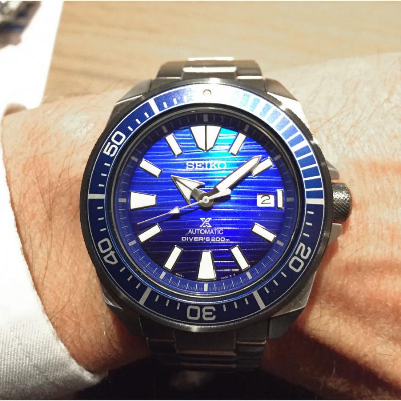Seiko PROSPER 最新「Save the Ocean」愛海洋 別注版限量款 自動機械腕錶 SRPC93K1(武士)
