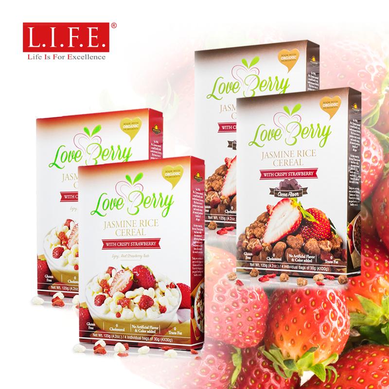 最美味大獎-有機香糙米 + 草莓•烘焙脆脆穀物早餐零食 30克 x 4