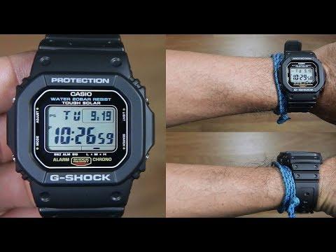 Casio G-SHOCK   G-5600E-1DR (一年保養)(太陽能)