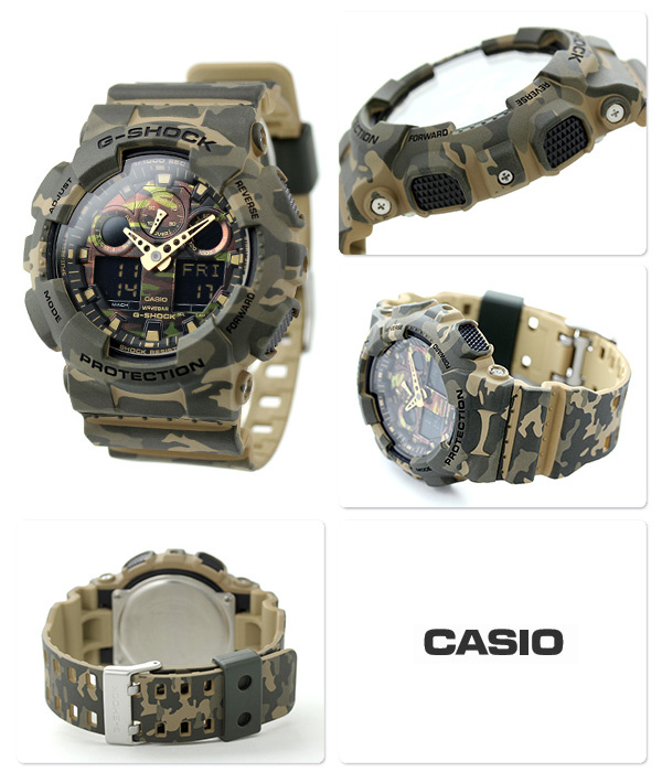 Casio G-SHOCK   GA-100CM-5ADR. (一年保養)