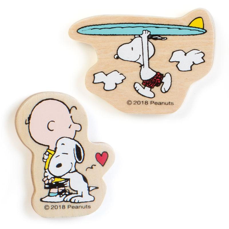 日本Snoopy 80's木製公仔磁石