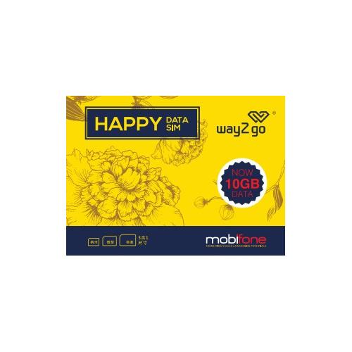 Way2Go - 越南10日10GB 4G LTE無限數據卡上網卡sim卡 到期日:30/04/2020