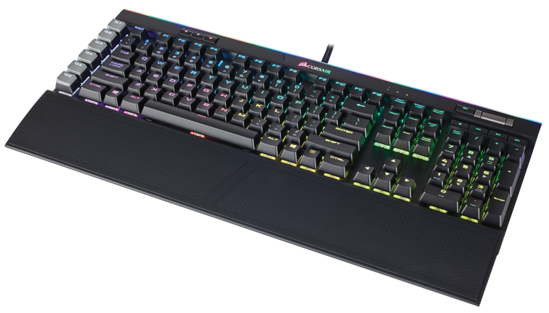 Corsair Gaming K95 RGB Platinum 銀軸 Mechanical Gaming Keyboard (Cherry MX RapidFire, 黑色)