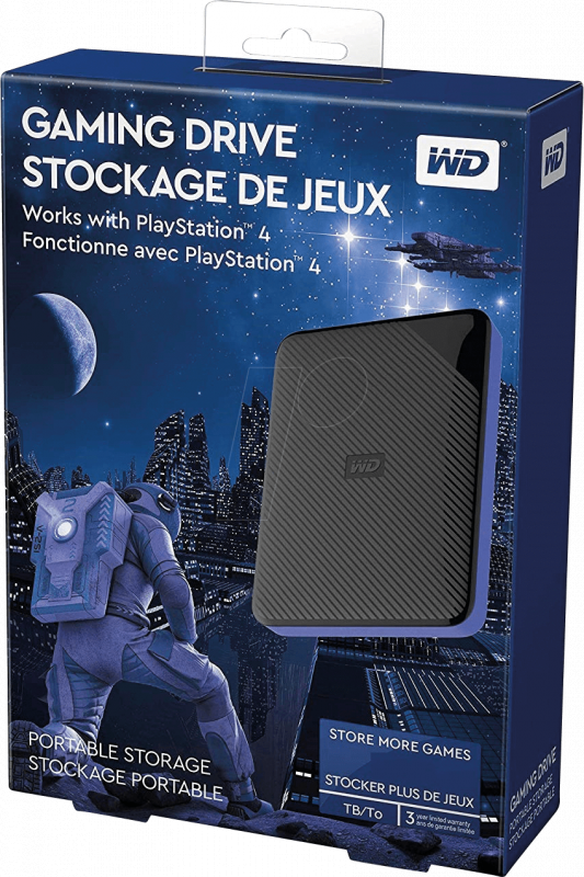 "WD 2.5"" My Passport Gaming Storage Works with PS4 (2TB ~ 4TB)"