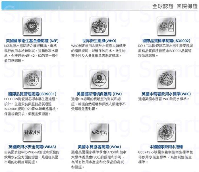 """道爾頓 -DOULTON [香港行貨] BTU 10"""" 濾芯 (2504) (M12系列用) 可濾鉛"""