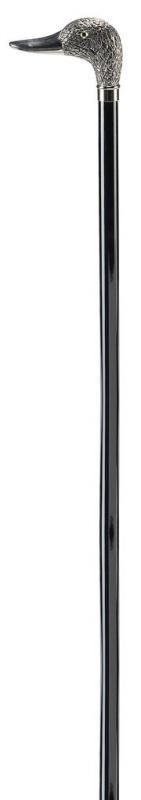 Ossenberg鍍鉻鴨頭黑木手杖 Ossenberg Chromed Duck Head Black Wood Stick