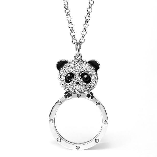 熊貓放大鏡頸鍊 Panda Magnifier Pendant