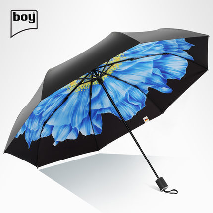Boy BY3036 海芋/芙白 三折防紫外線摺疊雨傘 [禮盒裝] [4款]