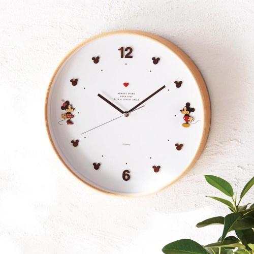 日本Disney 米奇木枠掛け時計時鐘 [4款]