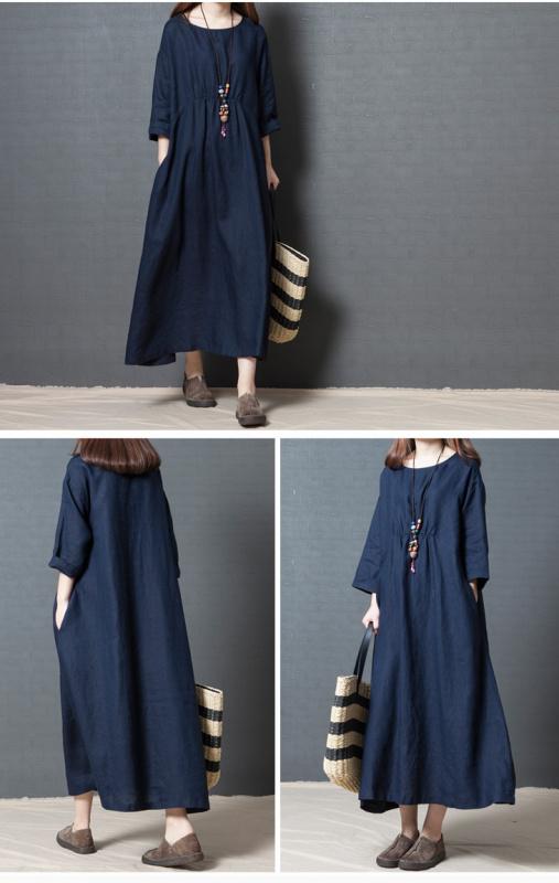 2018FW ゆったり連身裙 [6色] [2尺寸]