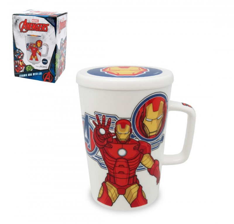 Marvel陶瓷杯連蓋
