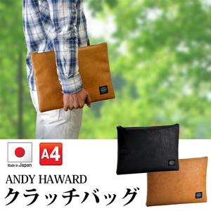 ANDY HAWARD 日本製皮革手提包(2色)