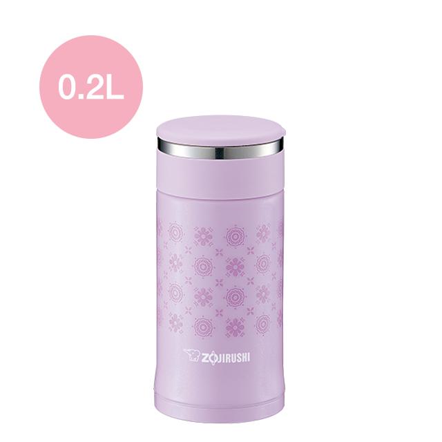 ZOJIRUSHI 象印 SM-ED20 迷你保温杯 (20ML) 白綠色/紫色