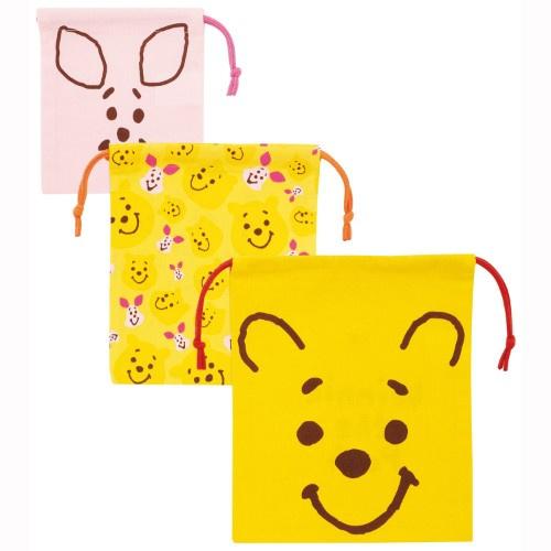 日本Disney 小熊維尼子母袋巾着 [3枚] [2款]