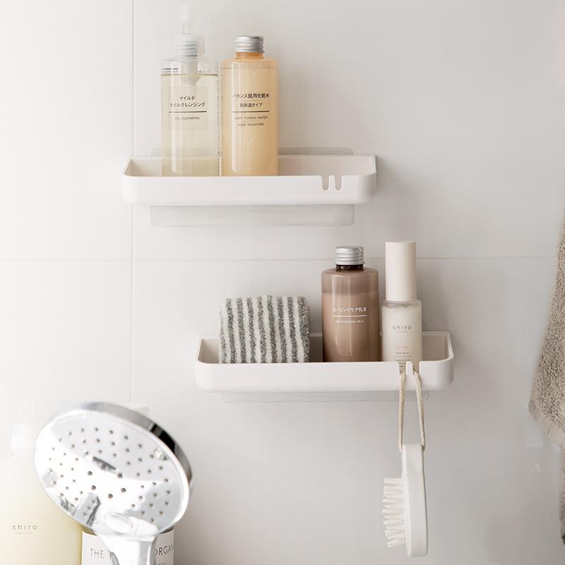 簡潔免打孔浴室收納架