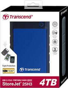 Transcend StoreJet® (25M3-1TB / 2TB)  (25H3 4TB) 防震硬盤