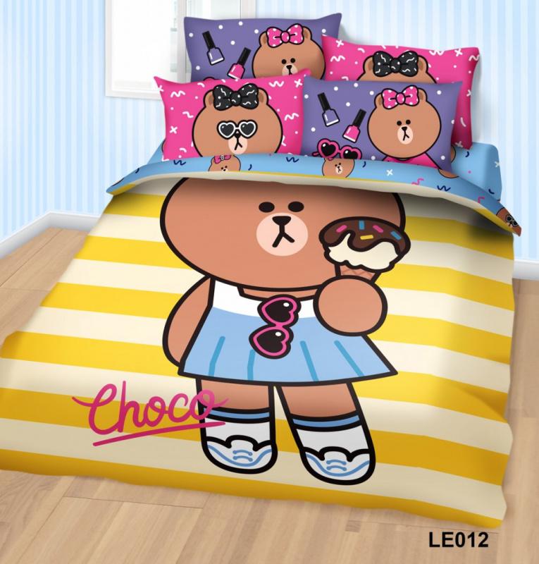 Cherry X Line Friends 純棉850針系列寢具套裝[2款] [4尺寸]