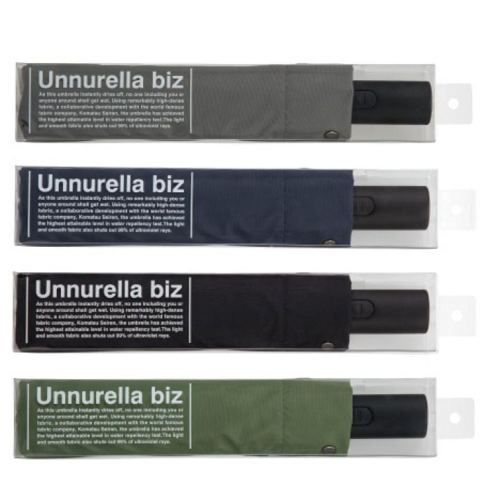 W.P.C Unnurella Biz UN104 日本滴水不沾自動開關摺傘 (灰/黑/綠/藍)