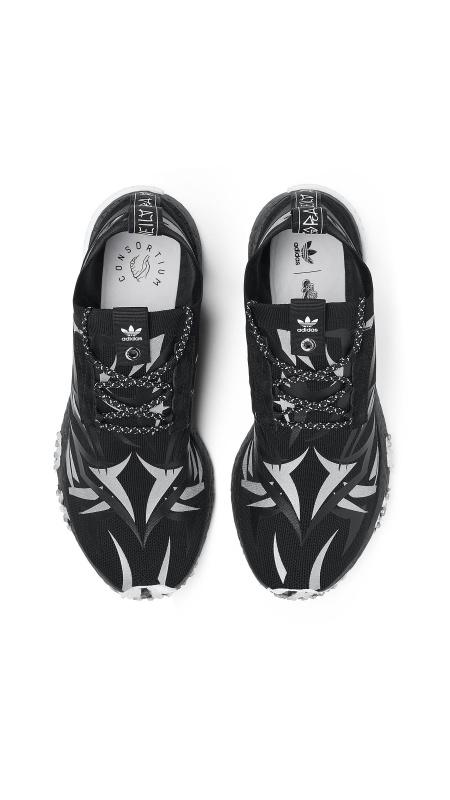 Adidas Consortium x Juice Alienegra 荊棘 NMD Racer 男裝鞋 [黑色]