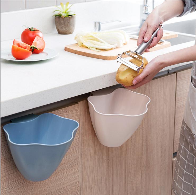 廚櫃門掛勾垃圾桶 [3個] [3色]