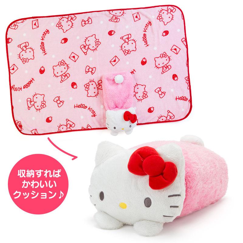 日本SANRIO Hello Kitty 公仔咕臣毛毯 [9款]