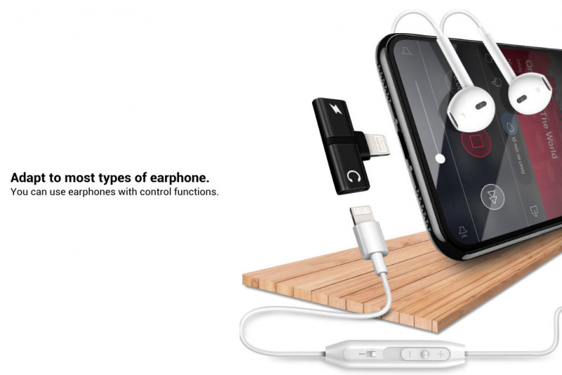 iPhone 耳機及充電多功能轉換器 [顏色隨機]
